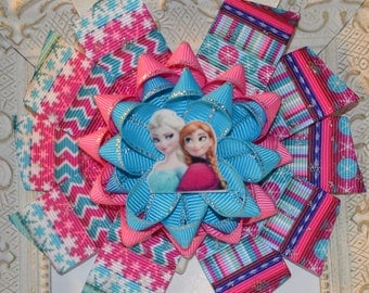 Frozen Elsa and Anna Hair Bow