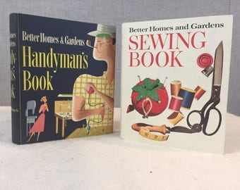 Vintage Better Homes & Gardens Handyman's Book Sewing Marriage Shower Gift - Set of 2