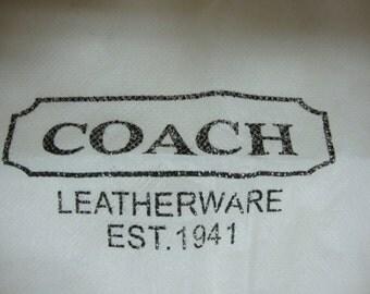 Coach White Fiber Dust Bag