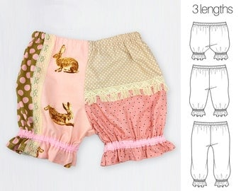 Bloomers Pattern, Baby Patterns, Diaper Cover Pattern, Baby sewing patterns, PDF, Baby Clothes Patterns, Baby Bloomers Pattern, PATCHWORK