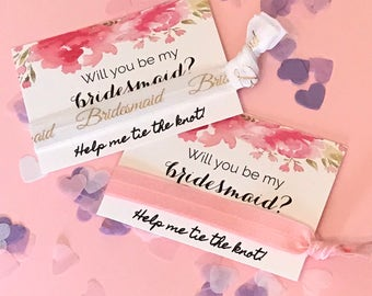 Bride Wedding Favour Card Hen Party Hair Band FOE Will You Be My Bridesmaid