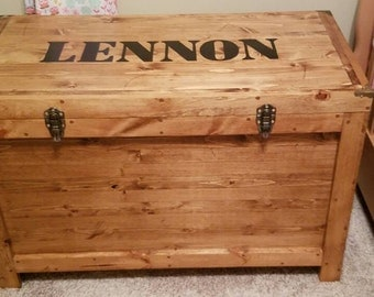 3 ft hand made trunk or chest or toy box