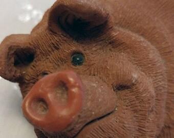 Vintage Don James Resin Pig Figurine