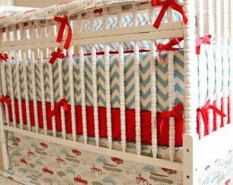 Custom 4 Piece Crib Bedding Set