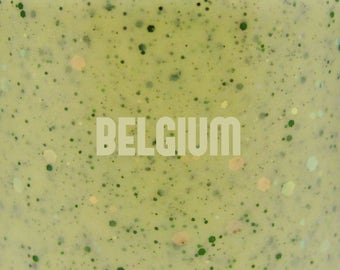 "Belgium glitter nail polish 15 mL (.5 oz) from the ""S(!-l=!"" Collection"