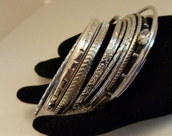 Vintage 13 Stackable Bracelets