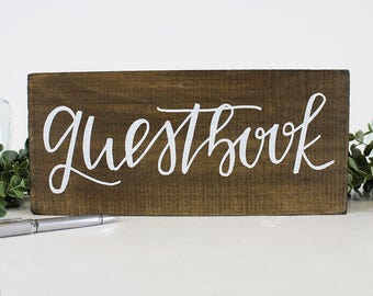 Guestbook Wood Sign