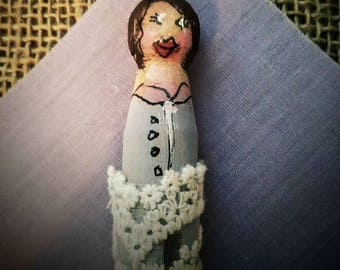 Lavender Clothespin Doll