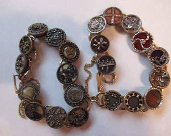 choice Vintage Victorian 1800s perfume and celluloid buttons  bracelets