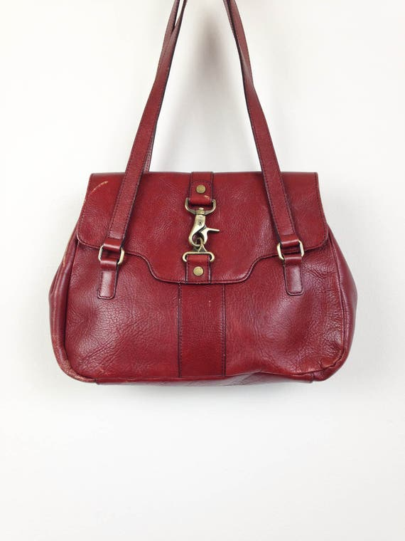 Vintage Etienne Aigner Leather Purse in Oxblood