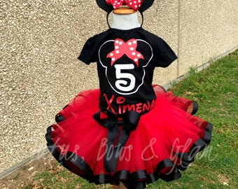 Minnie Mouse RibbonTrimmed Tutu Set