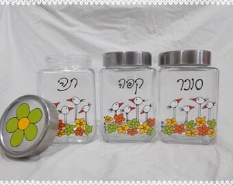 Hand painted jars - BLOSSOM/ANIMALS