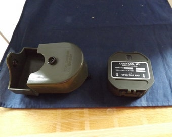 Military M2 Compass and Case WWII
