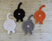 Cat Butt Coaster - Mug Rug - Drink Coasters - Cat Coasters - Coasters - Drink Coasters - Funny Coasters - Table Protector -Mother's Day Gift