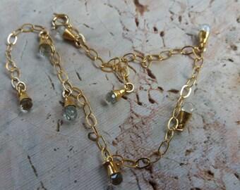 Aquamarine Drop shape GF Bracelet