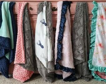 Minky Stroller Blanket