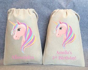 "10- Unicorn Party, Unicorn Birthday, unicorn party favors, Unicorn bags, Unicorn favor bags, Unicorn party favor bags, Unicorn bag, 4""x6"""