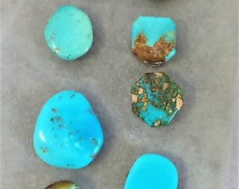 Vintage Turquoise Button Covers