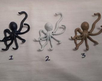 Cast iron octopus  jewelry hanger / key hook / beach decor