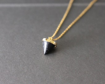 Little Black Spike Necklace
