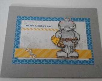 Father Day, Construction Hippo card