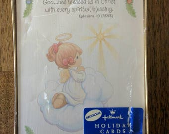 Vintage 90s Precious Moments Hallmark Christmas Cards - Boxed set of 20