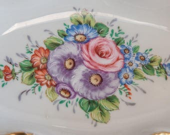 Vintage Limoges France Porcelaine Decorative Trinket Candy Fruit Soap Dish Bowl