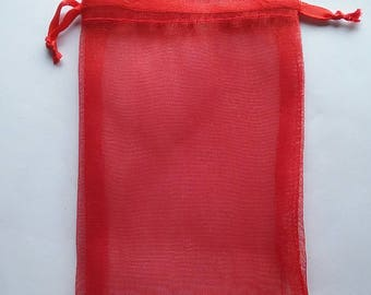 40 4x6 Red Organza bags, 4x6 inch