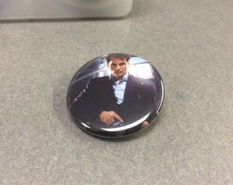 Doctor Who Companion Torchwood Captain Jack Harkness John Barrowman Inspired Pin/Pinback Button