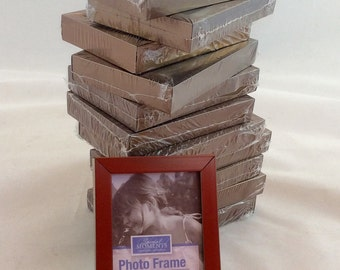 Small Picture Frames 2 x 3 Copper Tone Metal Frames/ Wedding decor frames