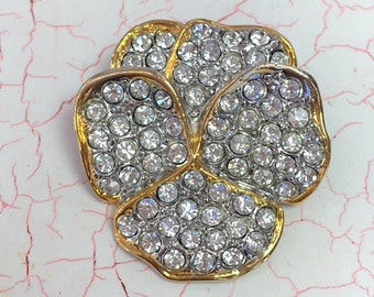 Pansy Brooch Smithsonian Rhinestone Brooch Pansy Pin Jewelry