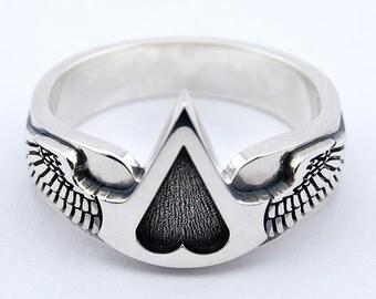 Assassins creed 925 silver ring