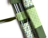 Knitting Needle Case, Knitting Needle Organizer, Crochet Hook Roll, knitting needle roll