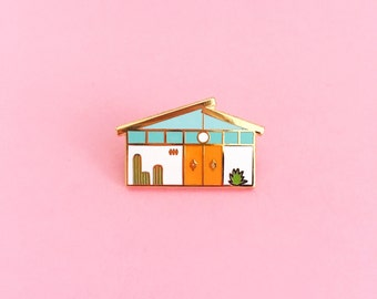 Mid Century Palm Springs House // Enamel Pin