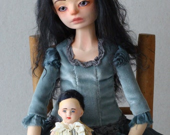 "Art doll OOAK , jointed doll ""Joanna"""