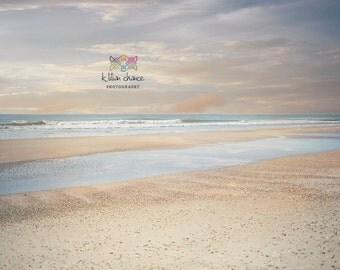 Sunset Beach Fine Art  Photography Print, Wall Decor, Beach Home Decor, Ocean, clouds