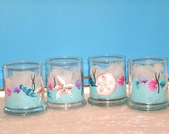 SEASHELL VOTIVE CUPS, set of four