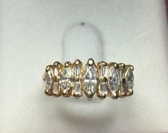 14K Yellow Gold  1.00 Diamond Ring Engagement Ring