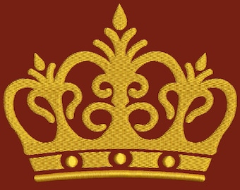 imperial crown  Machine Embroidery Design - tested