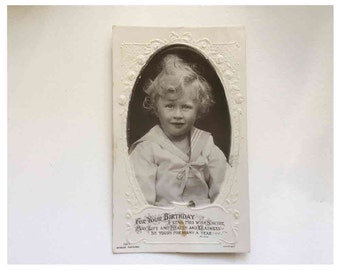 Post Card Antique Beagles Real Photo Postcard 1900's Boy or Girl?