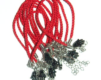 Kabballah 10 pcs Lot Red String Hamsa Mazal Shema Lucky Charm Evil Eye Bracelet