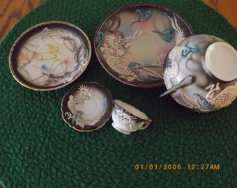 Japanese Dragon Ware 5 pieces