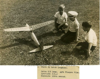 Airplane contest vintage photo by D. Loghnan Vancouver