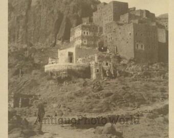Village of Attara Yemen antique albumen art photo Africa