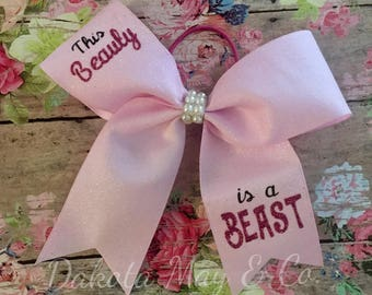 Cheer Bow | This Beauty is a Beast Bow