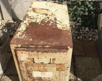 Vintage metal filing storage drawer