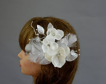 SALE Ivory Bridal Flower Hair Clip Wedding Accessory Bridal Hair Clip
