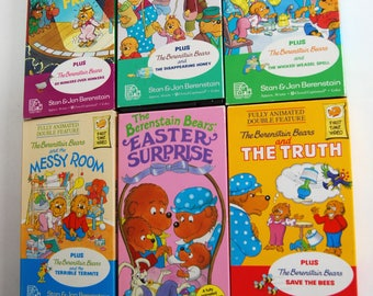 Retro VHS Berenstain Bears Tape Collection