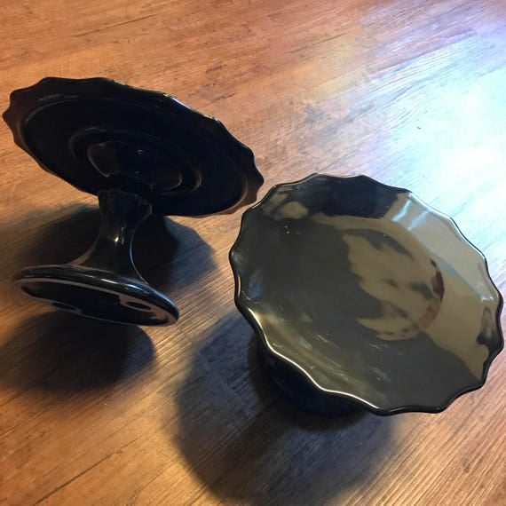 Black Rococo Noir Cake Stand