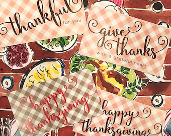 Thanksgiving Gift Tags / Cards READY TO SHIP